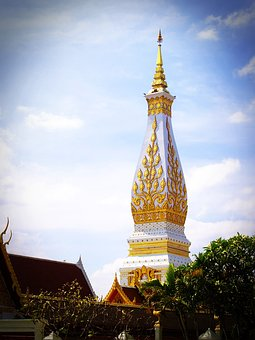 Phra That, Wat, Phra, Thailand, Monk, That, Attractive
