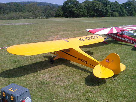 Model Aircraft, Piper Cub, Large Scale