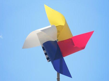 Pinwheel, Playful, Fun, Colorful, Childhood, Kids