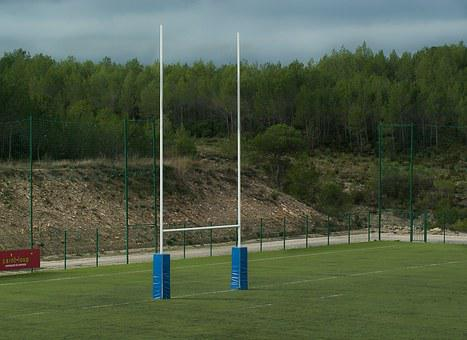 Rugby, Rugby Field, Poles, Testing