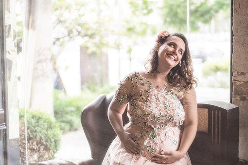 Pregnant, Pregnant Woman, Vintage Pregnant, Pregnancy