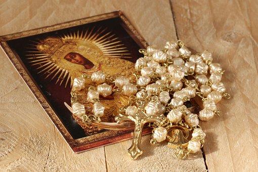 The Rosary, Mary, Cross, Prayer, Madonna, Religion