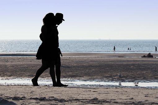 Beach, Backlighting, Human, Coast, Water, Sea, Mood