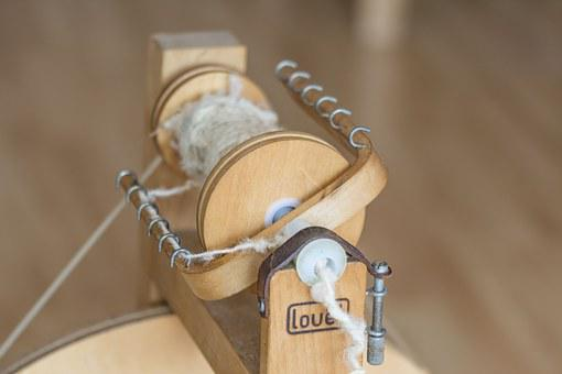Spinning Wheel, Spiders, Wool, Sheep's Wool, Crafts