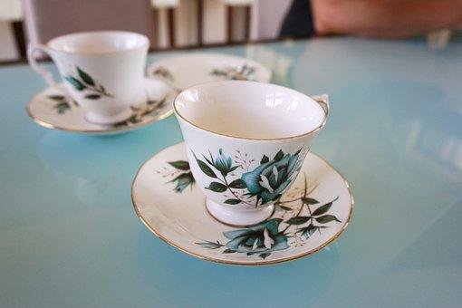 Tea, Tea Cup, Vintage, Saucer, Afternoon, Floral, China