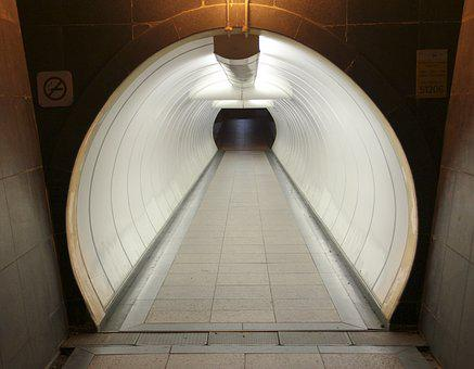 Tunnel, Walkway, Corridor, Way, Walk, Underground