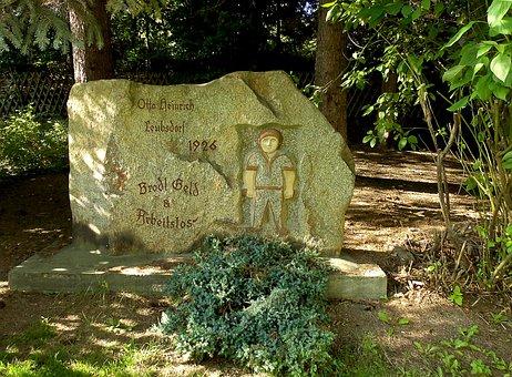 Stone, Memorial Stone, Unemployment, Leubsdorf