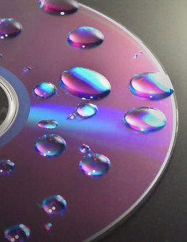 Dvd, Cd, Disc, Disk, Drop, Water, Droplets, Wet, Data