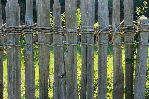 Fence, Wood Fence, Wood, Limit, Weathered, Demarcation