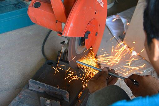 Grinder, Sparks, Metal, Tool, Steel, Worker, Work, Iron