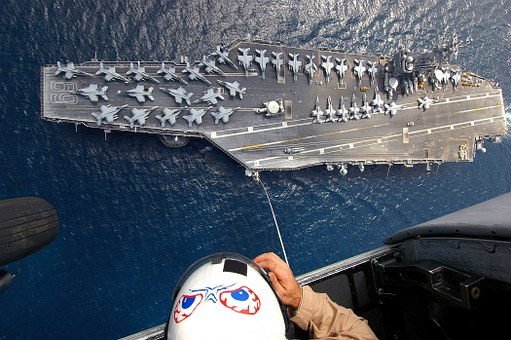 Aircraft Carrier, Aerial View, Navy