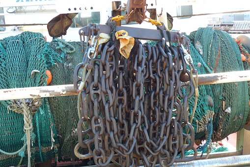 Necklace, Fishing Boat, Anchor Chain, Fisheries, Port