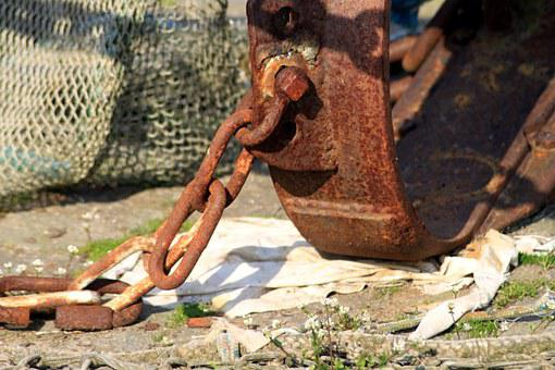 Stainless, Anchor, Anchor Chain, Port, Metal