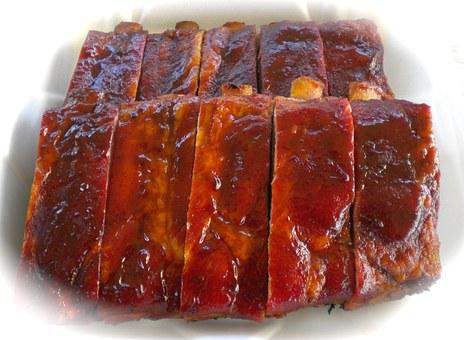 Pork Ribs, Barbecue, Food, Meat, Pork, Meal, Bbq