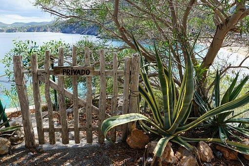 Fence, Barrier, Private, Sea, Closed, Delimit, Access