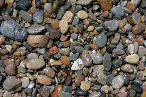 Stones, Pebble, Beach, Background, Pattern, Brown