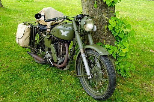 Old, Bike, Motor, Classic, Road, Headlight, Pedal