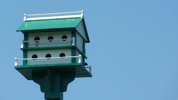 Birdhouse, Bird, Nesting, House, Home, Box, Wooden