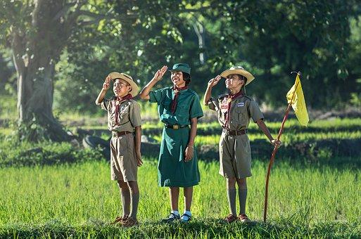 Boys, Scout, Scouting, Asia, Same, Thailand, Swear Word