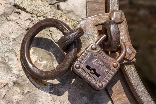 Padlock, Metal, Castle, Closed, Solid, Close, Sure