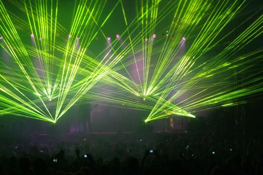 Laser Light, Concert, Music, Light Show, Light Effects