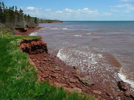 Coast, Erosion, Eroded, Shoreline, Sea, Ocean