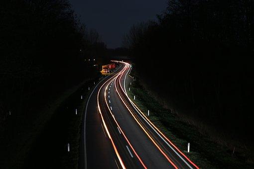Car Street, Expressway, Federal Street, Car At Night