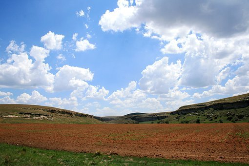 Field, Tilled, Ploughed, Land, Farm, Red Soil, Earth