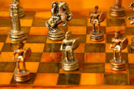 Chess, Figurines, Checkerboard, Knight