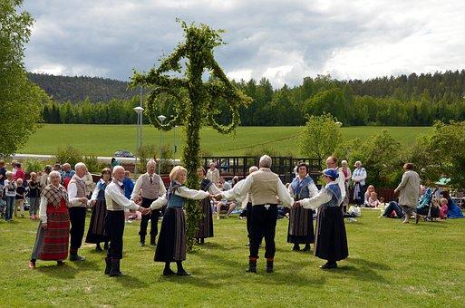 Midsummer, Maypole, Folk Dancing
