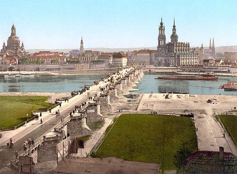 Dresden, City, Old Town, Frauenkirche, 19 Century