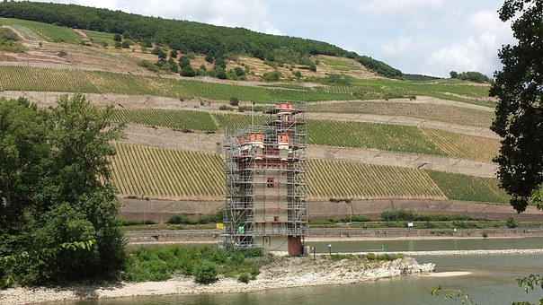 Tower, Rhine, Landscape, Sachsen, Winegrowing, Vineyard