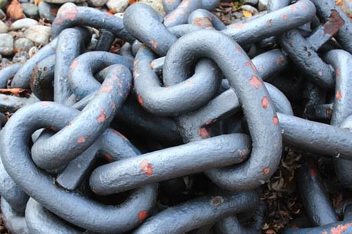 Chain, Anchor Chain, Metal, Iron, Links Of The Chain