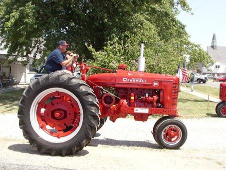 Tractor, Farmer, Farming, Mechanical, Machine, Rural