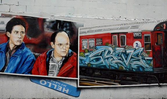 Graffiti, Street Art, New York, Human, Train, Asking