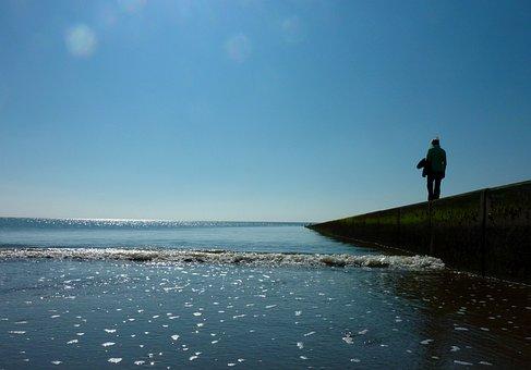 Beach, Holidays, Shores, Sky, Sea, North Sea