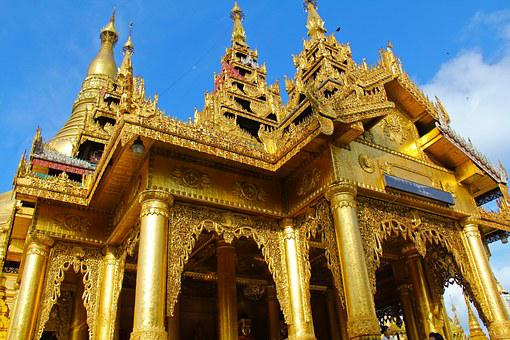 Shwedagon Pagoda, Pagoda, Popular, City, Temple, Pray