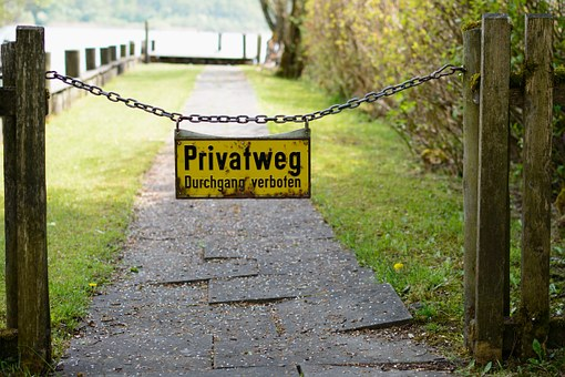 Demarcation, Limit, Barrier, Away, Path, Private