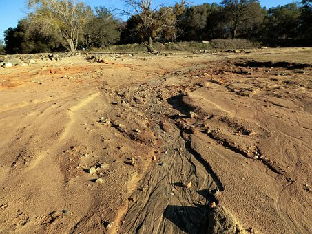 Beach, Sand, Erosion, Eroded, Rivulet, Shore, Island