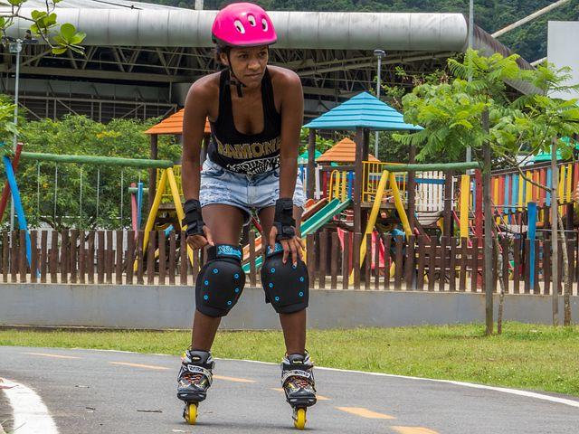 Sport, Rollerblades, Park, Laser