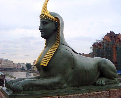Russia, St Petersburg Russia, Peter Bridges, Sphinx
