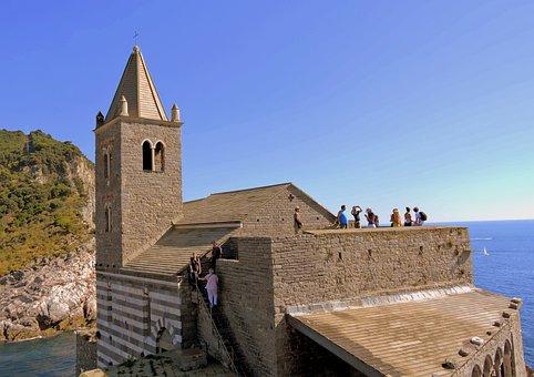 Church, San Pietro, Sea, Porto Venere, Liguria, Italy