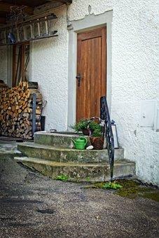 Door, Stairs, Input, Home, Gradually, Old