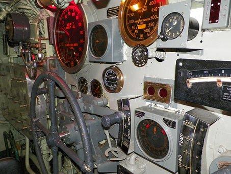 Submarine, Steering, Navigation, Nautical, Marine