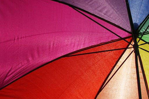 Umbrella, Parasol, Protection, Colorful, Color