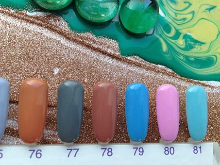 Summer, Sea, Varnish, Sand, Seashells, Nails, Swatch