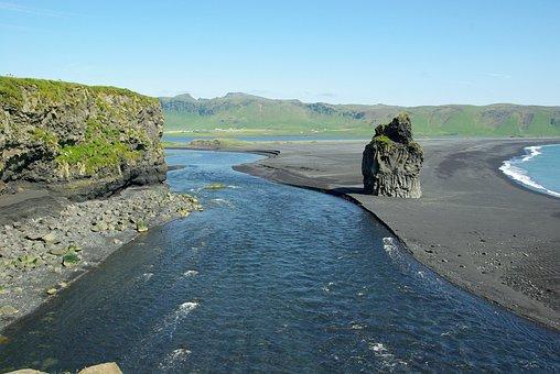Iceland, Beach, Vik, Black Sand