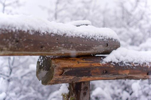 Fence, Snow, Winter, Snowy, Cold, Barrier, Wood