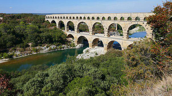 Pont Du Gard, Aqueduct, Roman, Unesco, France