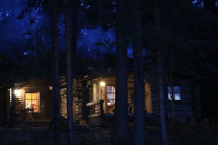 Cottage, Peace, Autumn, Dark, Nature, November, Finnish